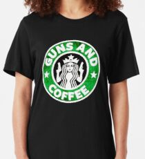 Guns and coffee Slim Fit T-Shirt