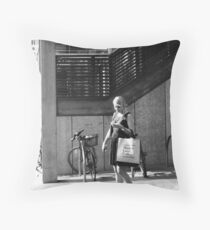 Market Lane Coffee II Throw Pillow