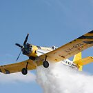 Crop duster aircraft does a drop by Philippe Widling