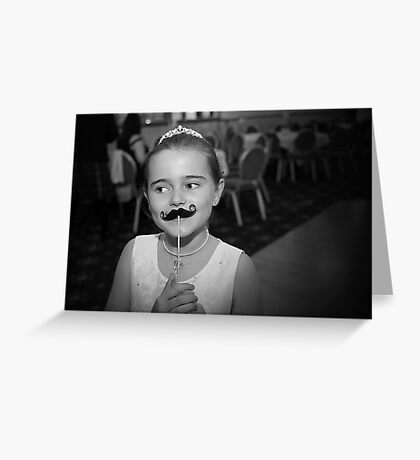 Mustache You A Question.. Greeting Card
