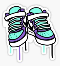 Air Force Ones - Purple and All Sticker