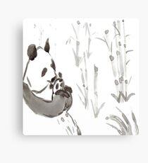 Panda Sumi-e  Canvas Print