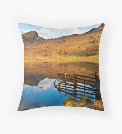 The Fence - Blea Tarn Throw Pillow