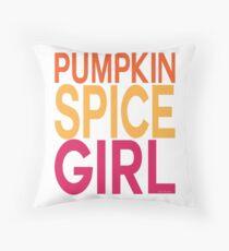 Pumpkin Spice Girl Throw Pillow