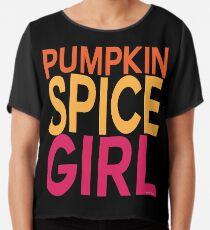 Pumpkin Spice Girl Chiffon Top
