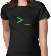 Command Prompt Women's Fitted T-Shirt