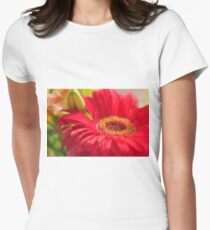 Red Gerbera, As Is Women's Fitted T-Shirt