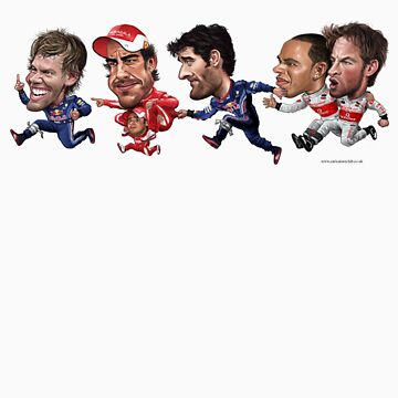 Formula 1 drivers 2010 - the final result version. by neildavies1