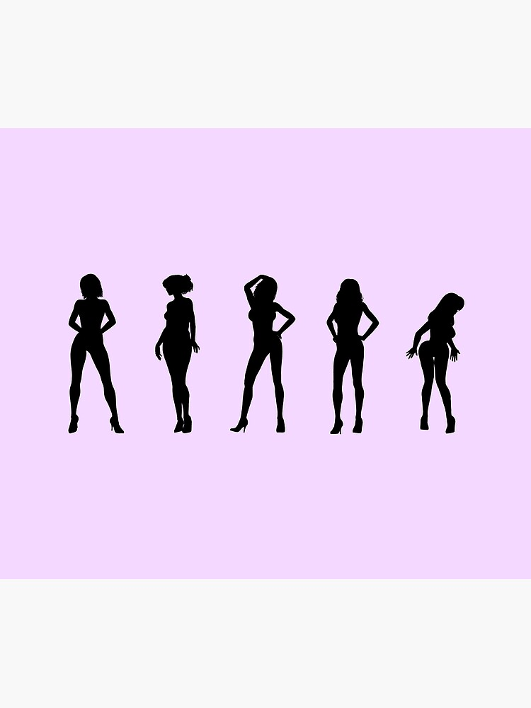 Erotic dancer and model girls in silhouette by andyrenard