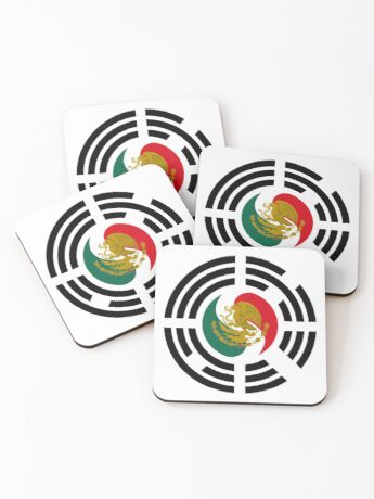 Korean Mexican Multinational Patriot Flag Series Coasters