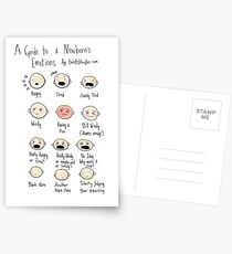 A guide to newborn emotions Postcards