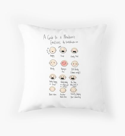 A guide to newborn emotions Throw Pillow