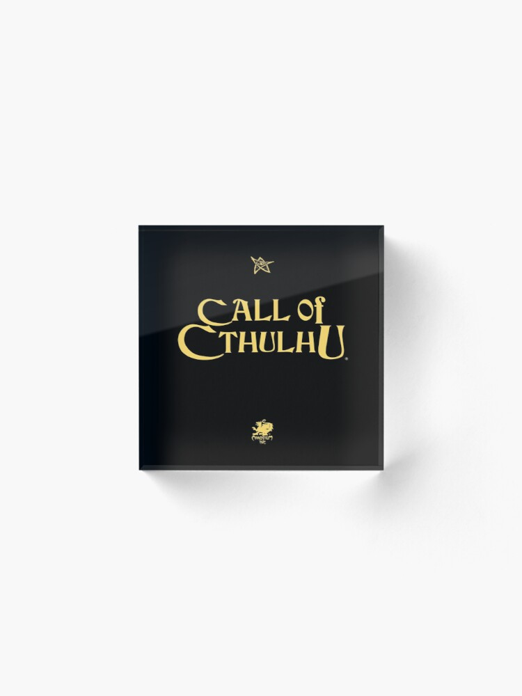 Alternate view of Call of Cthulhu - Logo (gold with Elder Sign & Chaosium Inc. Logo) Acrylic Block