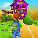 boy going school by Anny Zafar