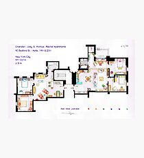 Floorplan of Friends Apartment (Old version) Photographic Print