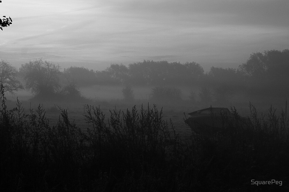 Boat in the Mist by SquarePeg