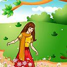 girl in garden by Anny Zafar