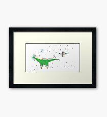 Sauropod in Space Framed Print