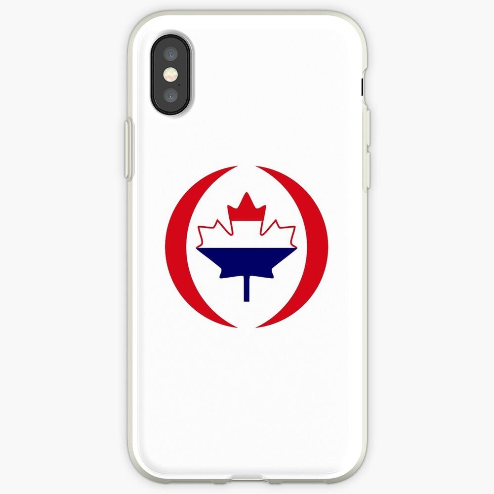 Dutch Canadian Multinational Patriot Flag Series iPhone Case & Cover