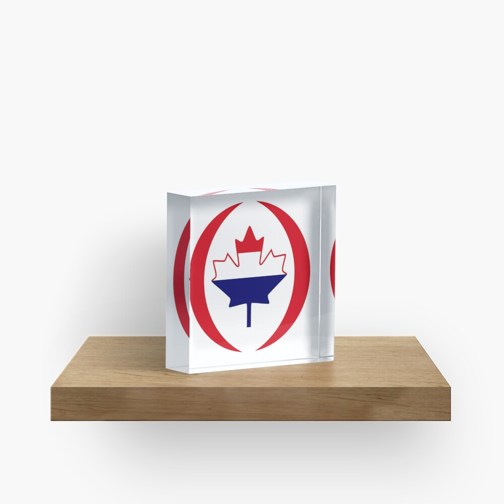 Dutch Canadian Multinational Patriot Flag Series Acrylic Block