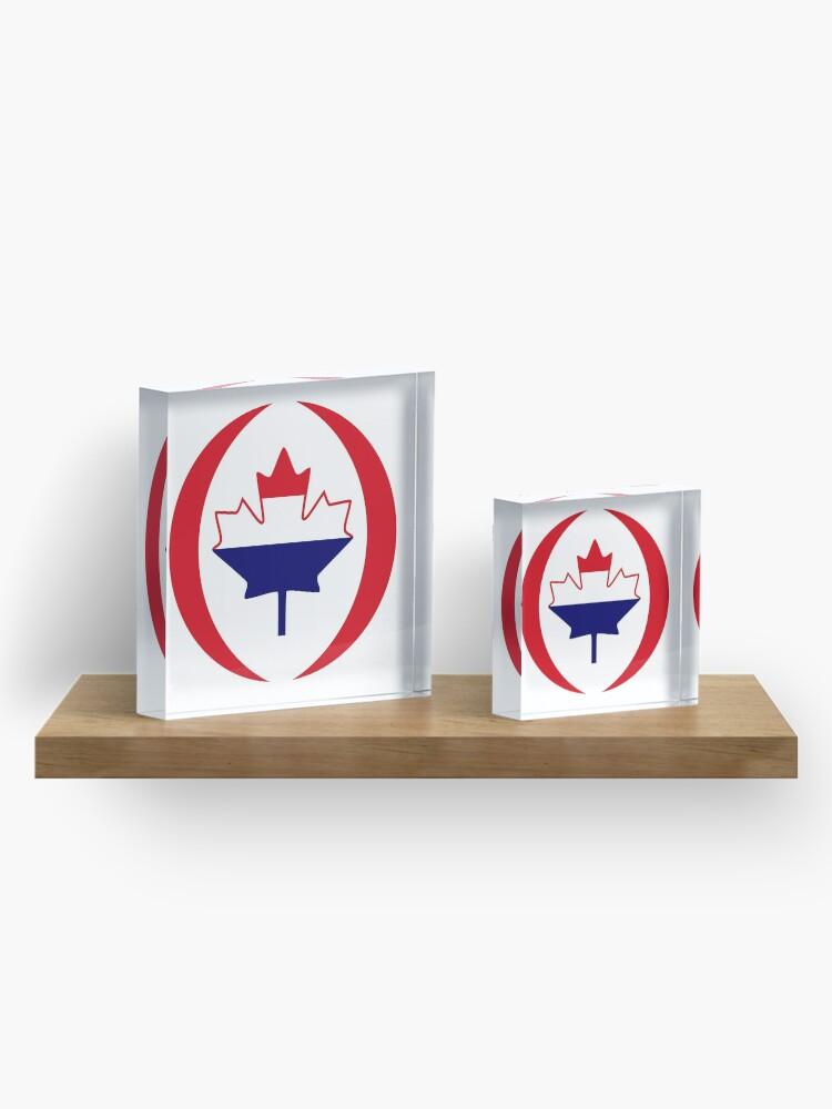 Alternate view of Dutch Canadian Multinational Patriot Flag Series Acrylic Block