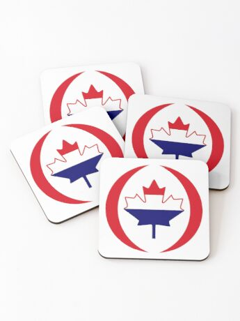 Dutch Canadian Multinational Patriot Flag Series Coasters
