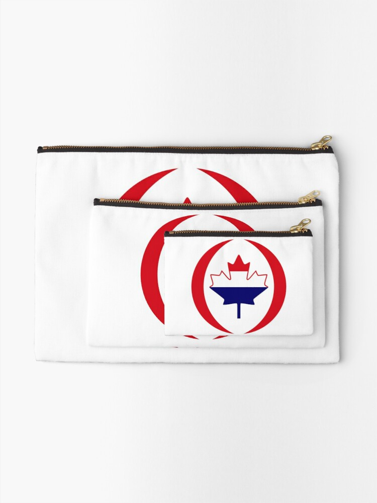 Alternate view of Dutch Canadian Multinational Patriot Flag Series Zipper Pouch