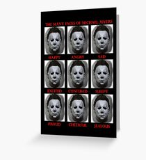 The Many Faces Of Michael Myers (Halloween) Greeting Card