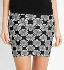 Groovism in Black and White Mini Skirt