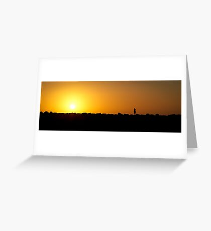 Sunset at St. Kilda Beach - Victoria Greeting Card