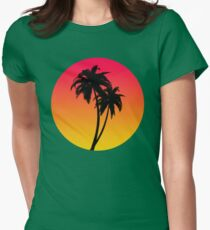 MASTER OF THE MIAMI SUNSET Womens Fitted T-Shirt