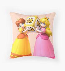 Princess Peach and Daisy Throw Pillow