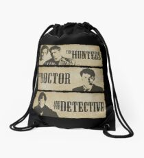 The Hunters, The Doctor and The Detective  Drawstring Bag