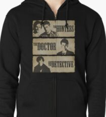 The Hunters, The Doctor and The Detective  Zipped Hoodie
