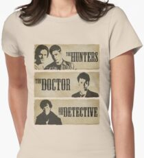 The Hunters, The Doctor and The Detective  Womens Fitted T-Shirt