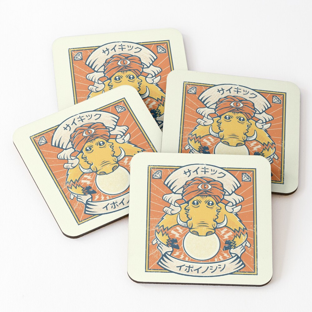 Psychic Warthog Coasters (Set of 4)