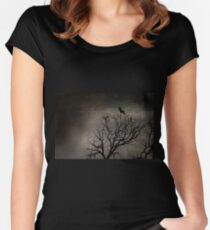Black Bird Fly Women's Fitted Scoop T-Shirt