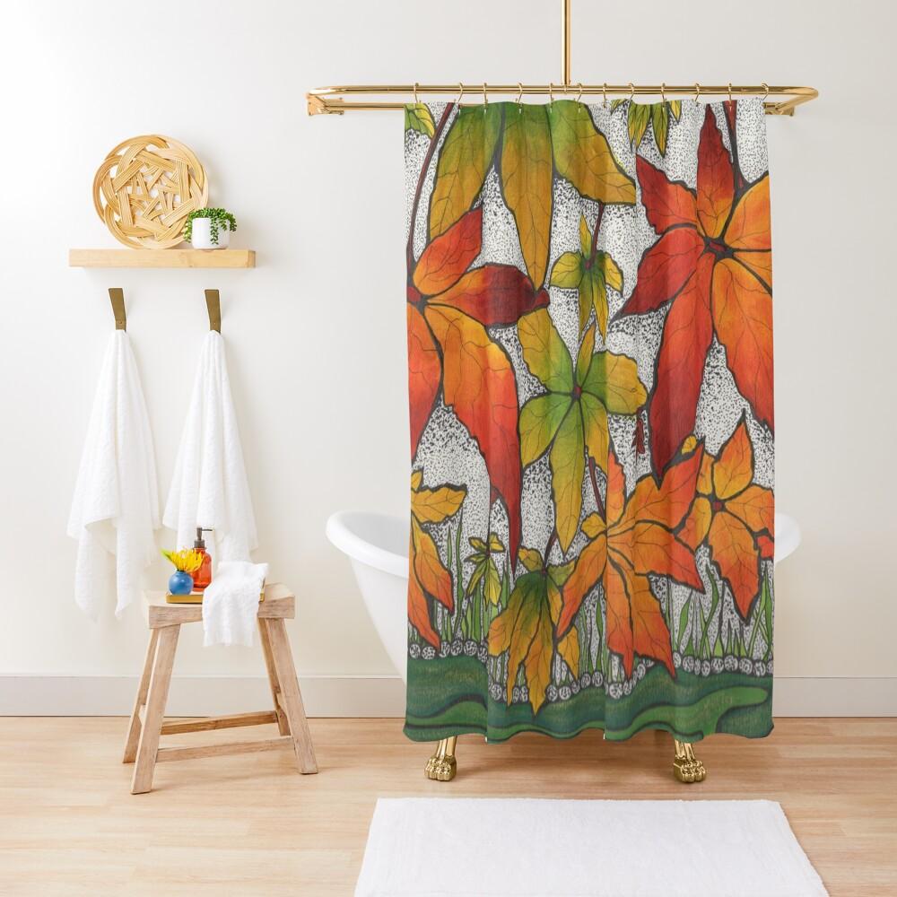 River bank Shower Curtain