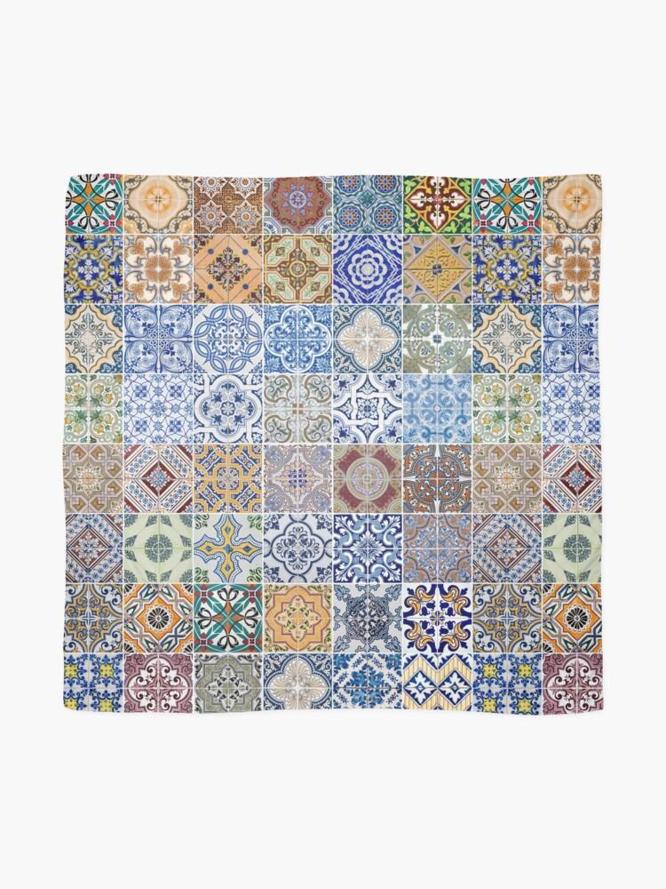 Alternate view of Set of 48 ceramic tiles patterns Scarf