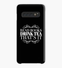 Book Lover Gift - Read Books Drink Tea Thats It - Present for Tea Drinkers Case/Skin for Samsung Galaxy