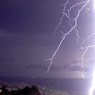 A Bit Too Close Lightning! by Michael Bath