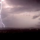 Lightning Across the Nightcap Range by Michael Bath