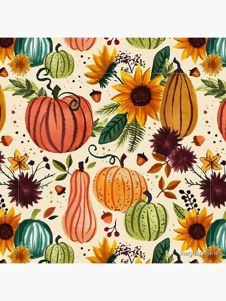 Pumpkin Watercolor Pattern by meghanmarie