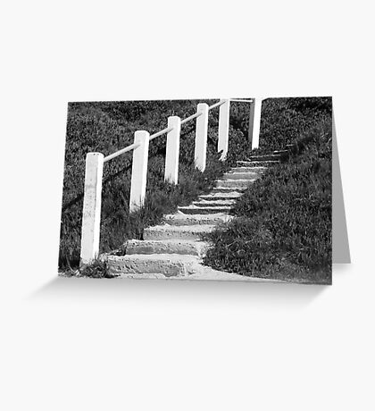 Sandy Steps... Going Up?? Greeting Card