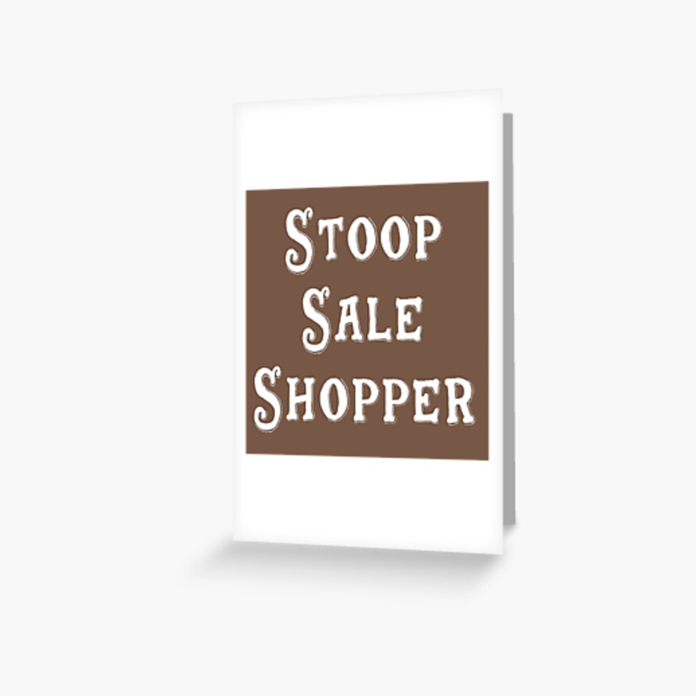 Brooklyn Gift - Stoop Sale Shopper Greeting Card