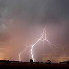 Sunset Lightning near Millmerran II by Michael Bath