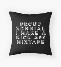 80s Lover - Proud Xennial - I make a Kick Ass Mixtape Throw Pillow