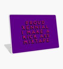 Child of the 80s Gift  - Proud Xennial - I Make a Kick Ass Mixtape Laptop Skin