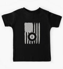 Billiards American Flag 8 Ball USA Apparel Kids T-Shirt
