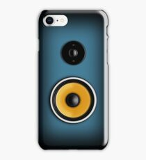 Speaker Phone Blue iPhone Case/Skin